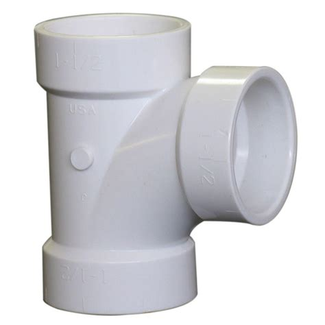 plastic tee section 4 in pvc dwv hub x hub x hub sanitary tee c4811hd4 the