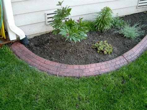 brick flower bed red cobblestone brick flower bed complete landscape edging
