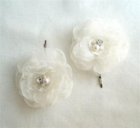 wedding hair accessories ivory flower weddings hair accessories ivory white flower bobby pins