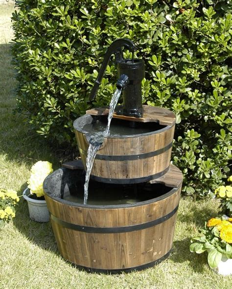 backyard fountains small water fountain pump backyard design ideas