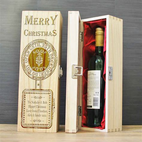personalised wine  spirits box   open  christmas day