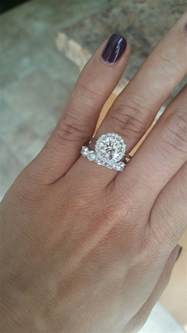 thin engagement ring thick wedding band weddingbee