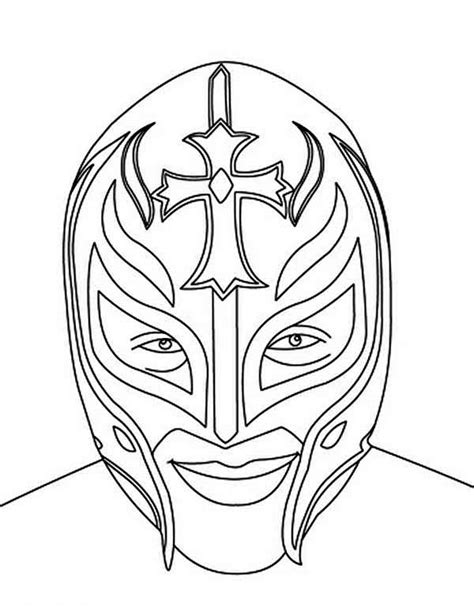 sin cara and rey mysterio coloring pages coloring pages