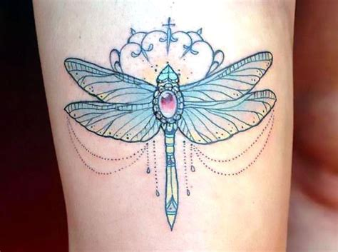 girly dragonfly tattoo idea