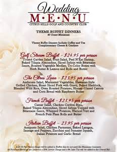 wedding menus buffet learn more citrus and skyview golf country clubs