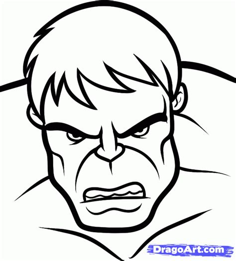 hulk head coloring page how to draw the hulk easy step by step marvel characters