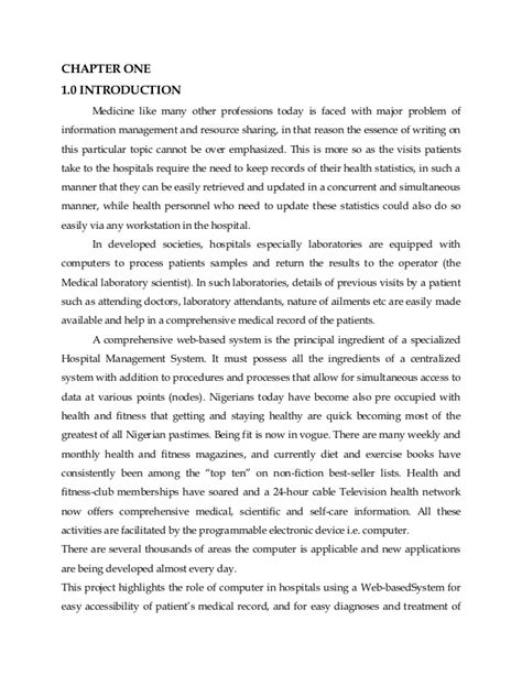 thesis abstract about dentistry hospital management system