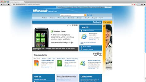 Microsoft Home Page Preview Microsoft New Home Page As As You Re Not