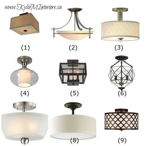ideas  update lighting   budget  flush mount