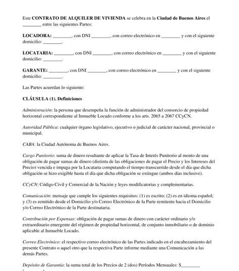 contrato alquiler vivienda 2015 word modelo contrato de alquiler de vivienda 2015 modelo