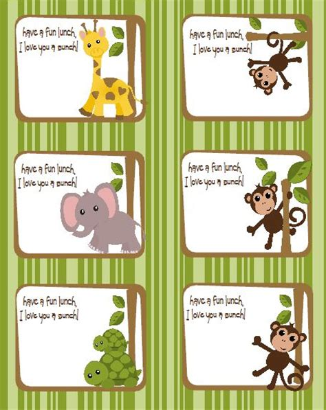 printable jungle animal labels 28 best images about name tags on pinterest jungle gym