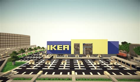 Minecraft Home Interior by Ikea Furniture Store Minecraft Project