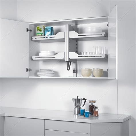 pull up kitchen cabinets pegasus pull down mechanism richelieu hardware