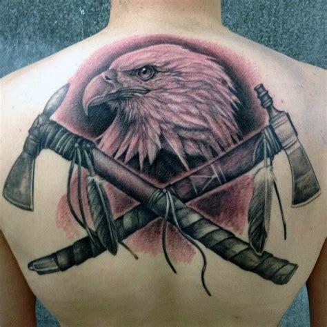 eagle tattoo native american 70 tomahawk tattoo designs for men american indian axe ideas