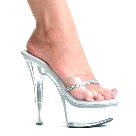 acrylic high heels 6 quot clear stiletto heel platform shoes with stripe