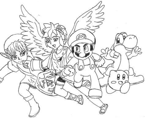 Super Smash Bros Coloring Pages Coloring Home Smash Bros Brawl Coloring Pages