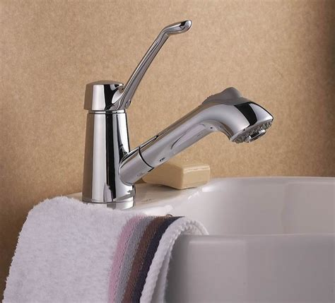 bathtub pull out faucet modern design single handle bathroom pull out faucet dl