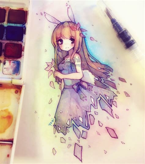 Drawing Anime With Watercolor Pencils