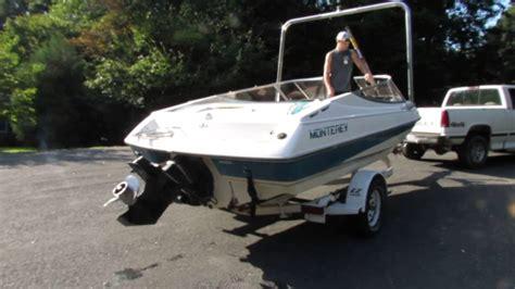 boat r up 1993 monterey ski boat start up youtube