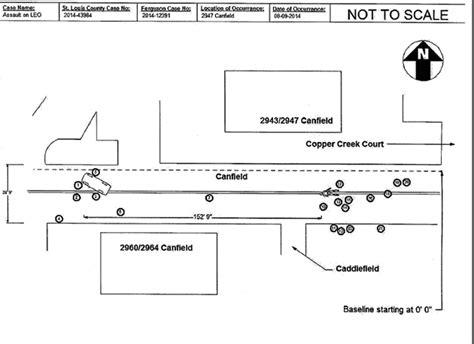 crime diagrams 16 revealing photos from the ferguson grand jury files