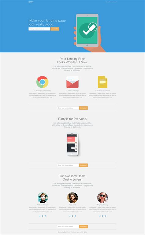 flatty free responsive html5 bootstrap template