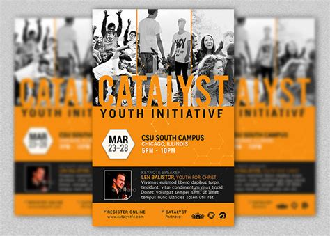 youth flyer template free catalyst youth summit flyer template godserv market