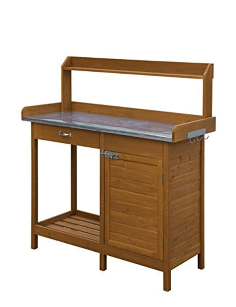 bench with cabinets convenience concepts deluxe potting bench with cabinet