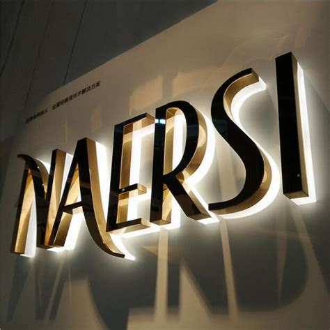 Outdoor Lighted Signs - custom logo signs 3d led sign letters stainless steel acrylic backlit letter signs in led