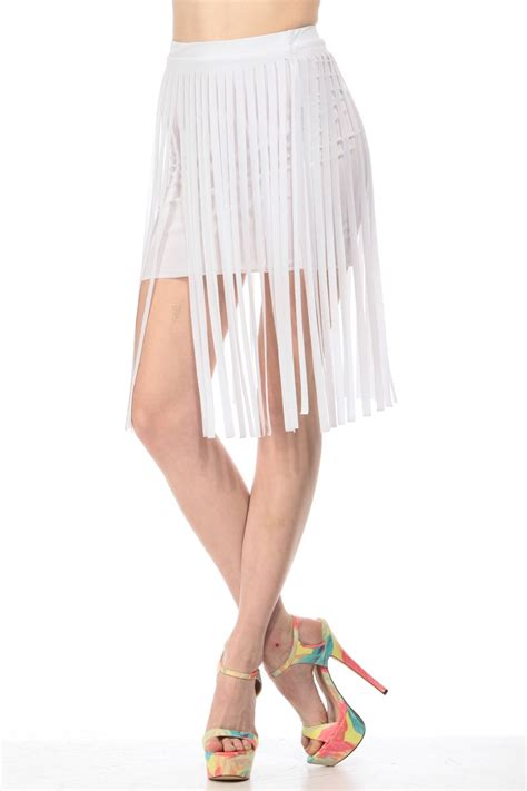 Dress Of The Day White Hoodie Dress by White Fringe Skirt