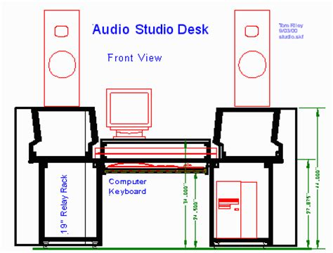 pdf plans home recording studio desk plans roubo