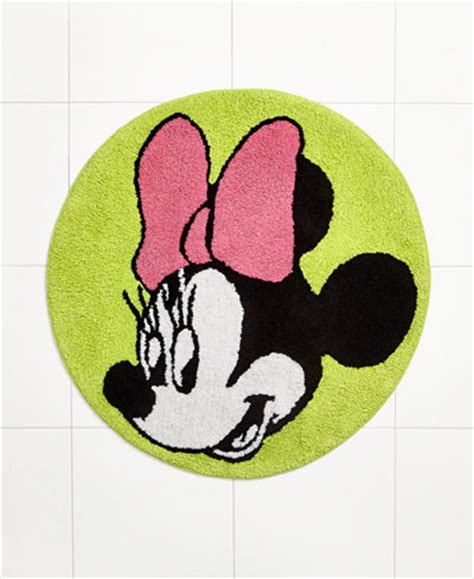 Disney Bath Rug Disney Bath Rugs Neon Minnie 28 Quot Rug Bathroom Accessories Bed Bath Macy S