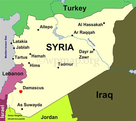 syria map map of syria
