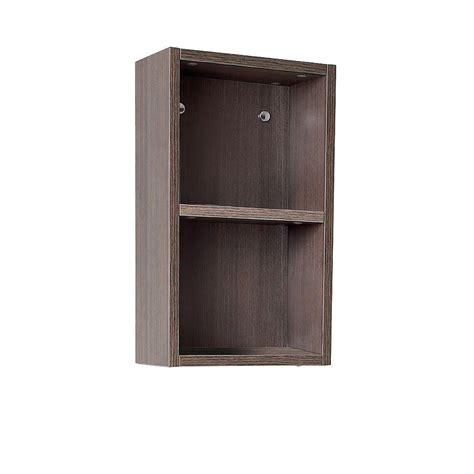 Linen Storage Cabinet Fresca 12 In W Linen Storage Cabinet In Gray Oak Fst8092go The Home Depot