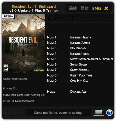 resident evil 6 cheats trainer pc reuridbamo s diary resident evil 7 trainer 2018 download