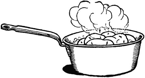 boiling water coloring page sauce pan clipart etc