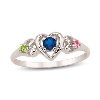 s birthstone ring 3 stones