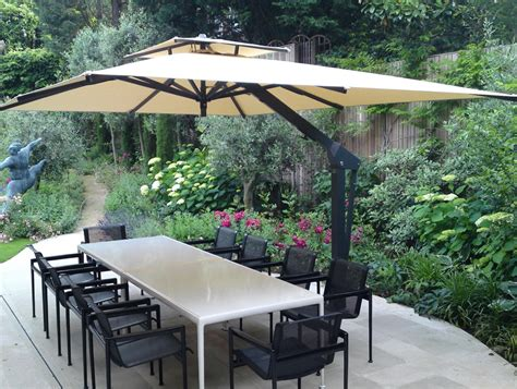 Large Offset Patio Umbrellas Large Cantilever Patio Umbrellas Crunchymustard