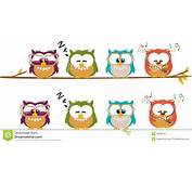 Cute Cartoon Owls Stock Photos  Image 18233243