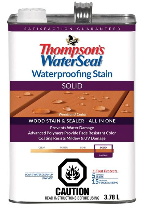 thompsons waterseal wp stain solid woodland cedar