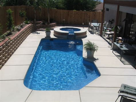 baja small fiberglass inground viking swimming pool
