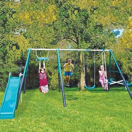 safest swing sets safety 1st forest hill 6 leg swing set gift ideas