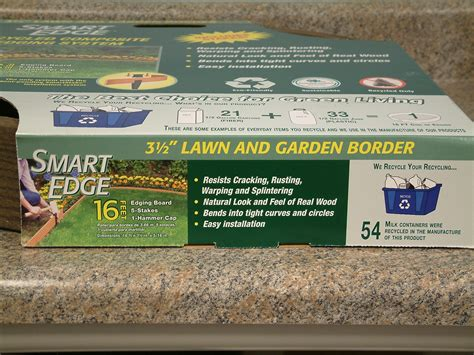 Vigoro Landscape Edging Pound In Timberwolf Smart Edge Lawn Edging 16 Brown Costs More To