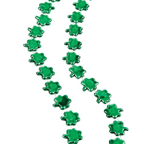 shamrock bead beaded shamrock necklaces trading