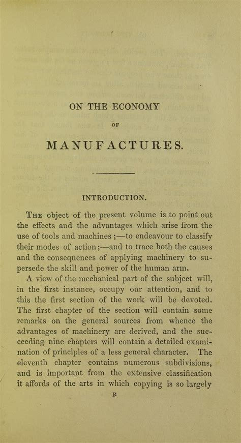 on the economy of machinery and manufactures classic reprint books charles babbage