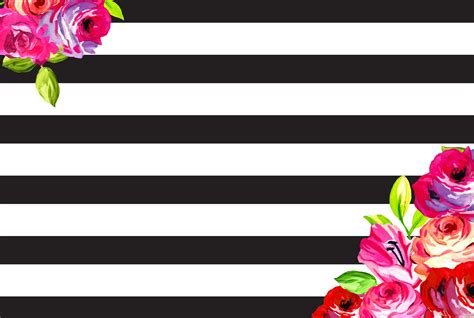 laptop wallpaper ideas february floral and stripes phone desktop background