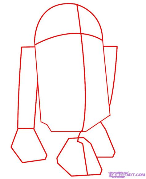 how to draw how to draw r2 d2 step 1