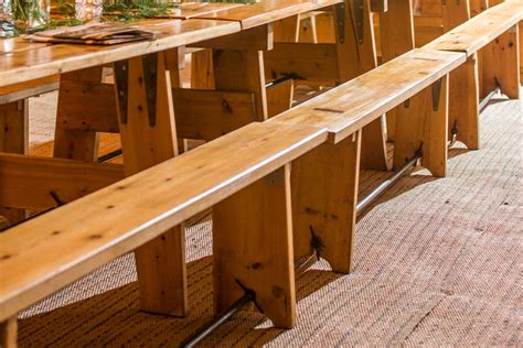 wooden benches for hire furniture hire