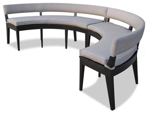 curved bench seating indoor bruno booth contemporary indoor benches new york by costantini design