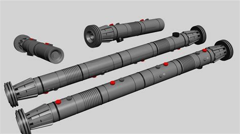 Darth Maul Lightsaber 3d Model