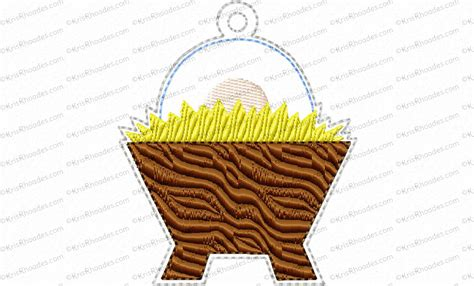 discount tree ornaments tree ornament day 24 manger embroidery design